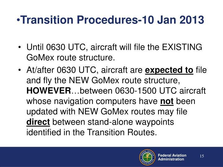 Transition Procedures-10 Jan 2013