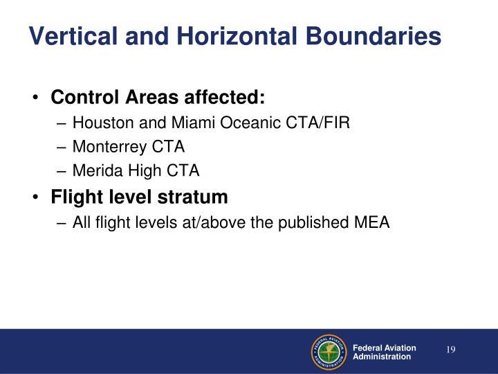 Vertical and Horizontal Boundaries