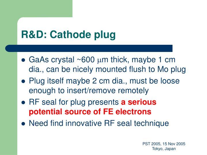 R&D: Cathode plug