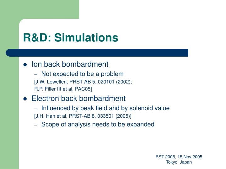 R&D: Simulations