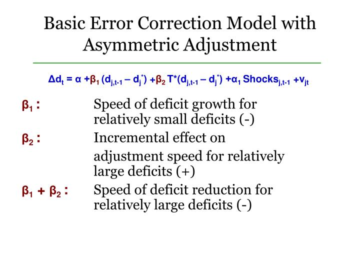 Basic Error Correction Model with Asymmetric Adjustment
