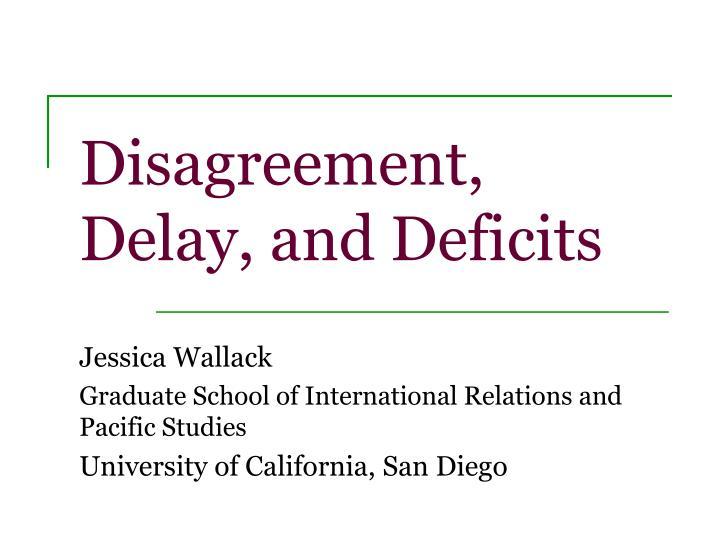 Disagreement,