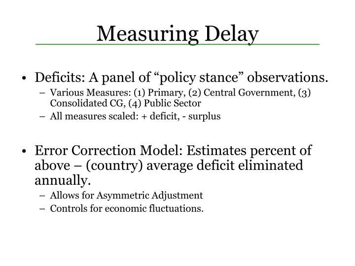 Measuring Delay