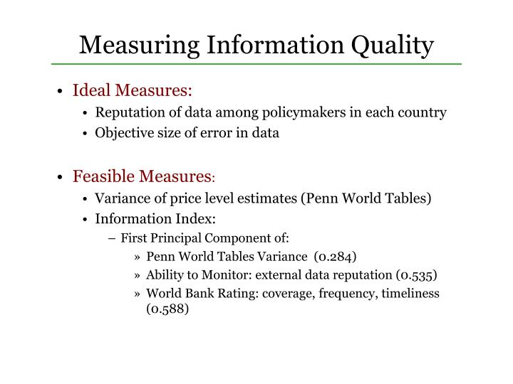 Measuring Information Quality