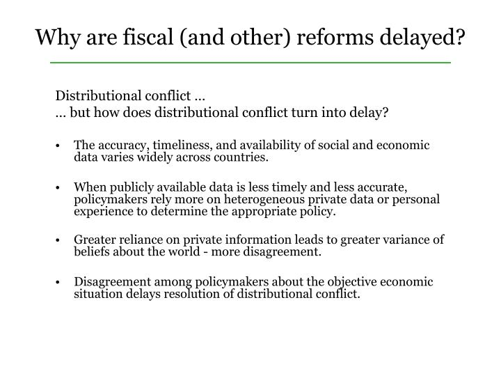 Distributional conflict …
