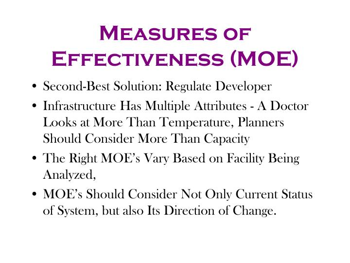 Measures of Effectiveness (MOE)
