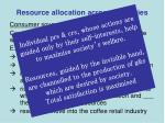 resource allocation across industries