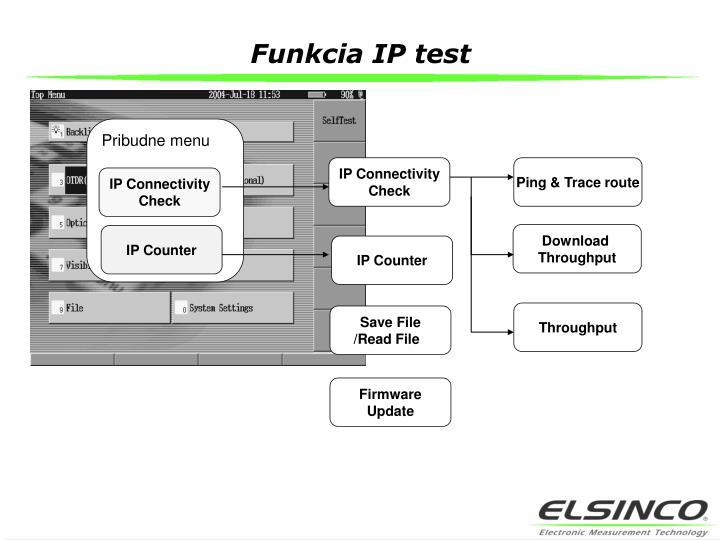 Funkcia IP test