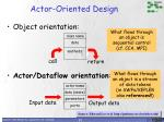 actor oriented design