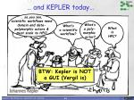 and kepler today
