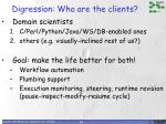 digression who are the clients