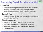 everything flows but what exactly