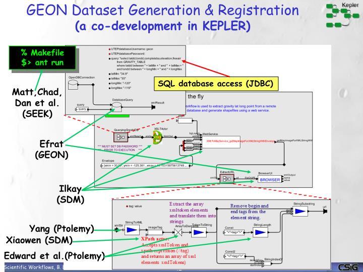 GEON Dataset Generation & Registration