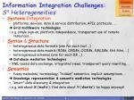 information integration challenges s 4 heterogeneities