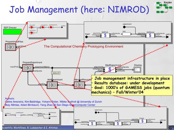 Job Management (here: NIMROD)