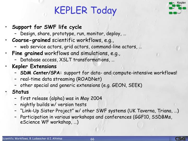 KEPLER Today