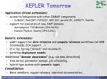 kepler tomorrow