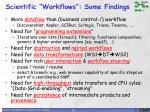 scientific workflows some findings