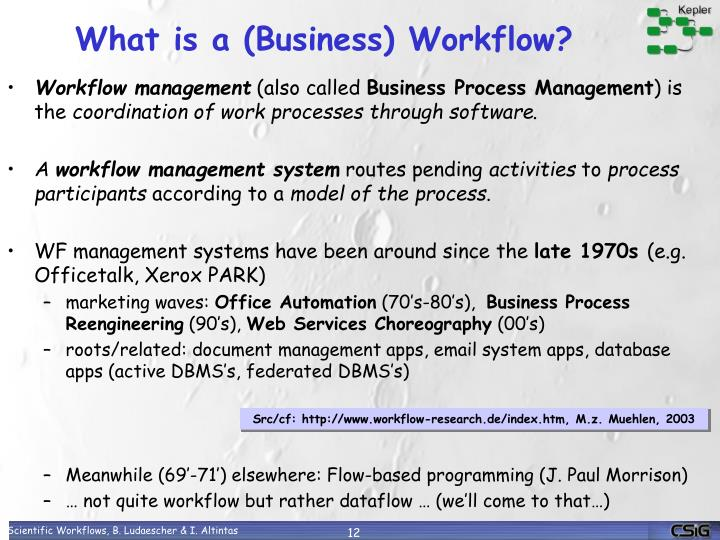 What is a (Business) Workflow?