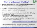 what is a business workflow