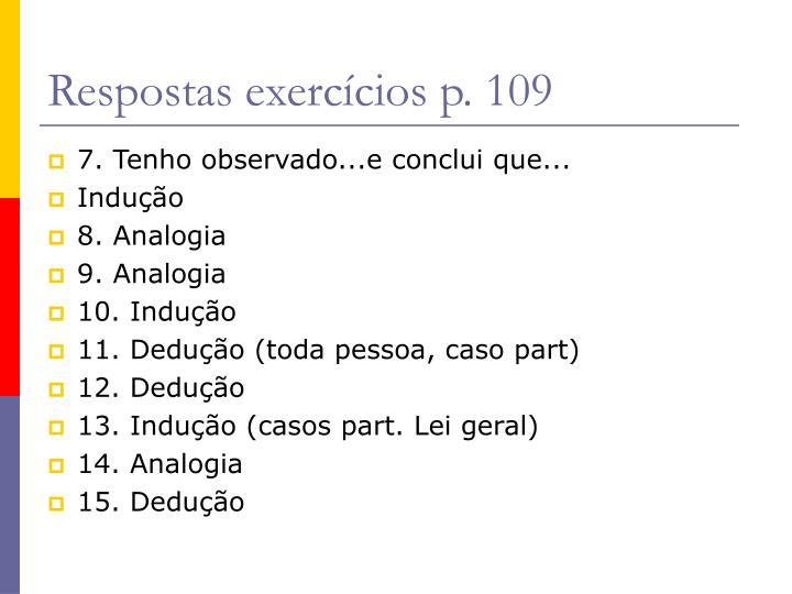 Respostas exercícios p. 109