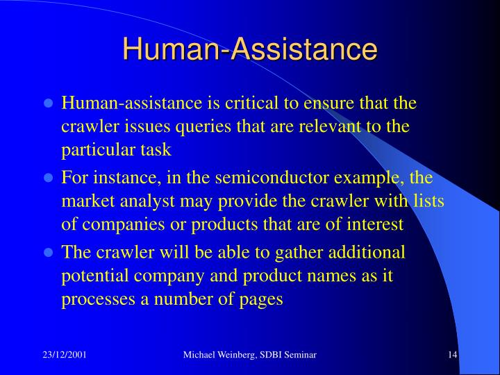 Human-Assistance