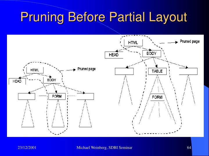 Pruning Before Partial Layout