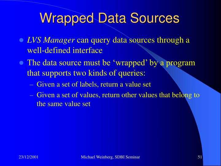 Wrapped Data Sources
