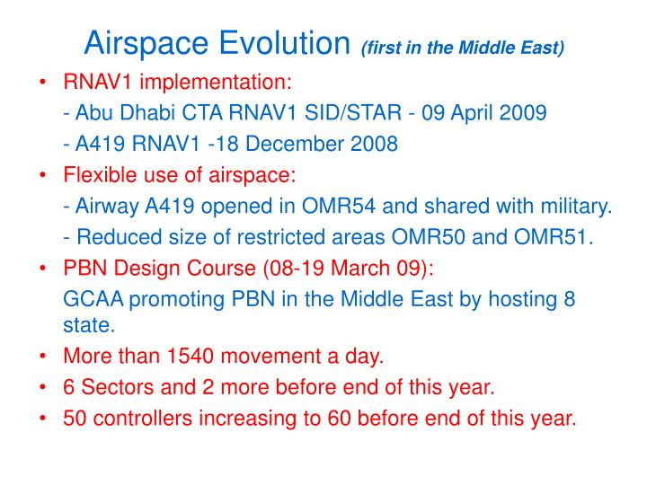 Airspace Evolution