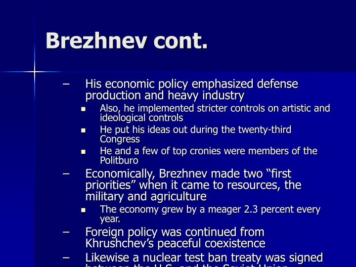 His economic policy emphasized defense production and heavy industry