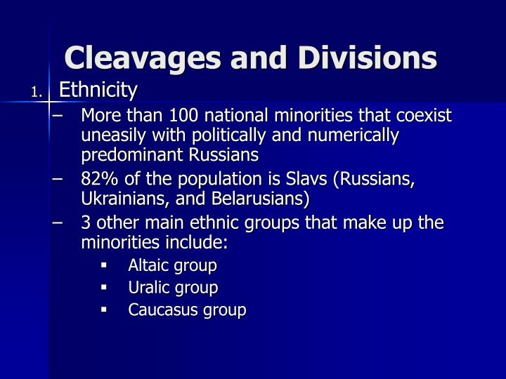 Cleavages and Divisions