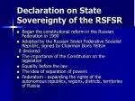 declaration on state sovereignty of the rsfsr