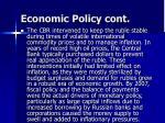 economic policy cont