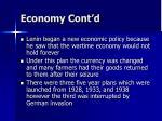 economy cont d