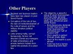 other players