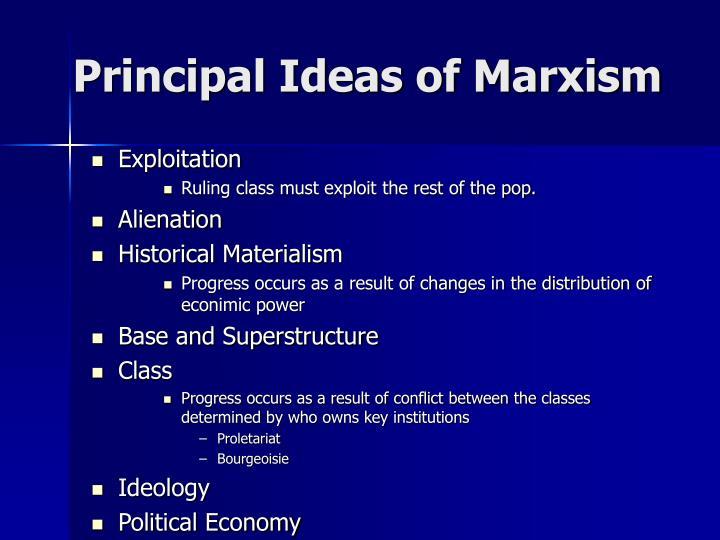 Principal Ideas of Marxism