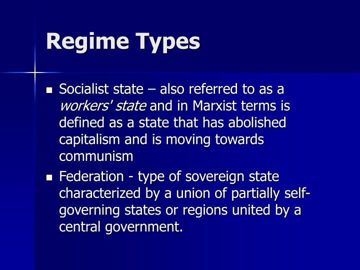 Regime Types
