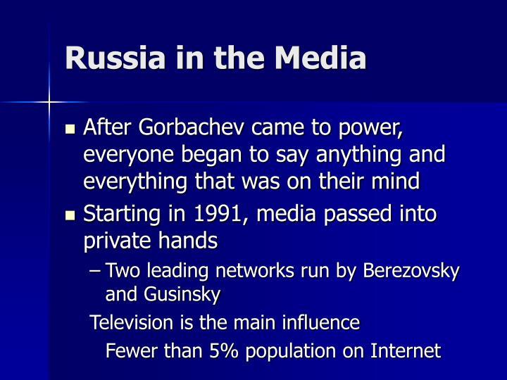Russia in the Media
