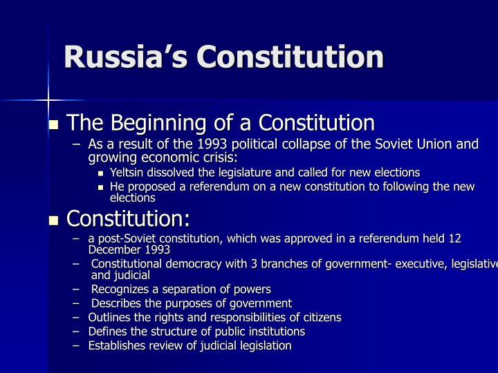 Russia's Constitution