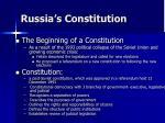 russia s constitution