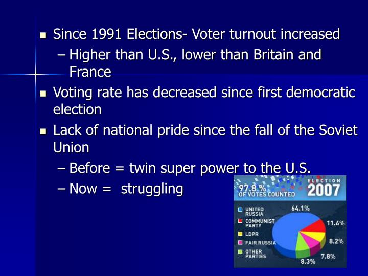 Since 1991 Elections- Voter turnout increased
