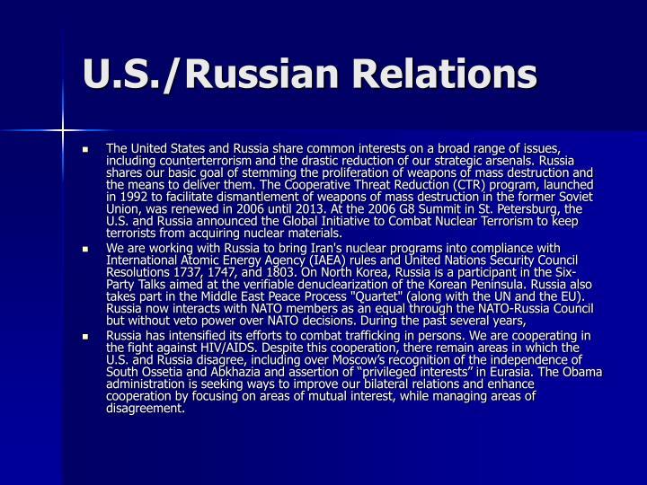 U.S./Russian Relations
