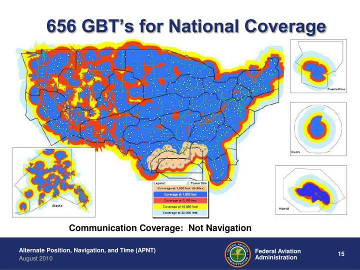 656 GBT's for National Coverage