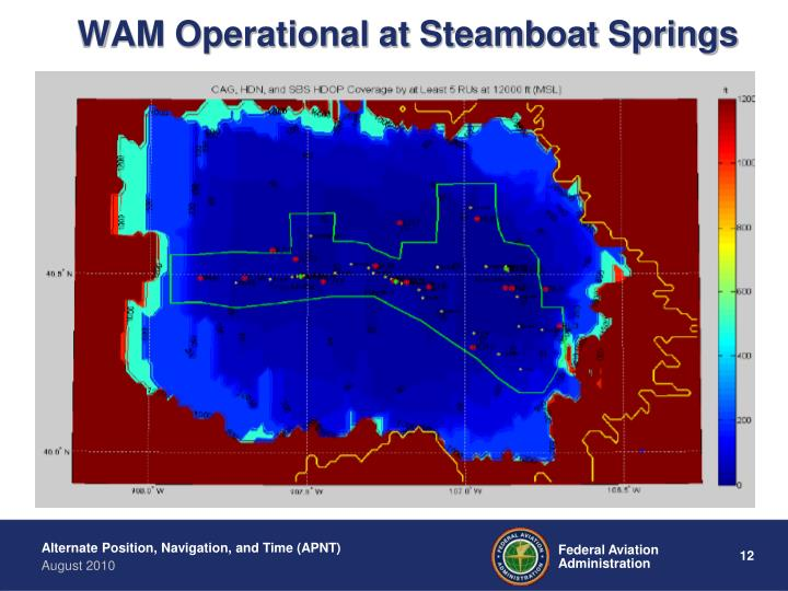 WAM Operational at Steamboat Springs