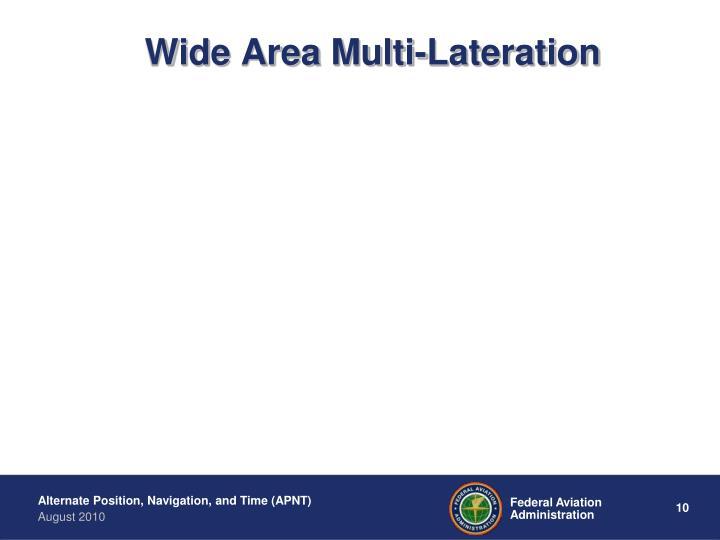 Wide Area Multi-Lateration
