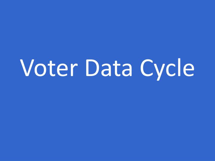 Voter Data Cycle