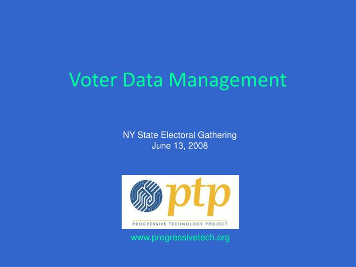voter data management