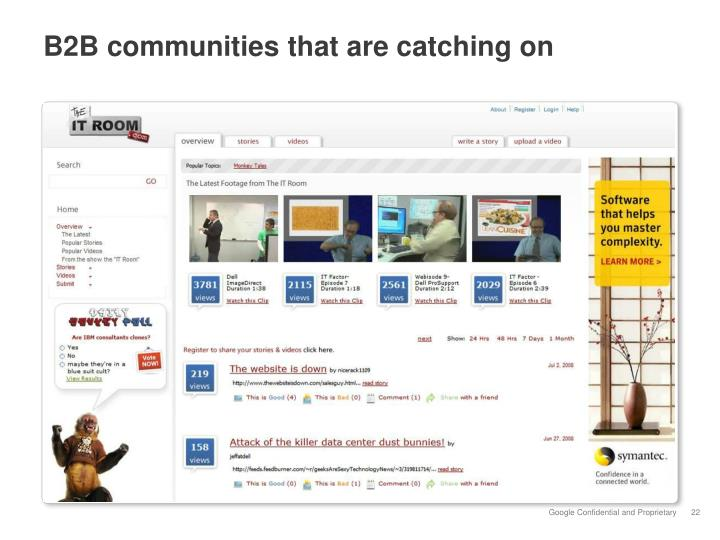 B2B communities that are catching on