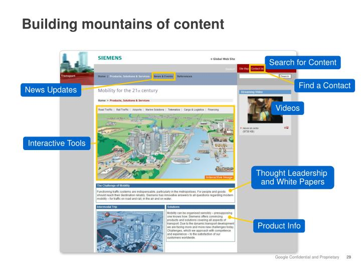 Building mountains of content