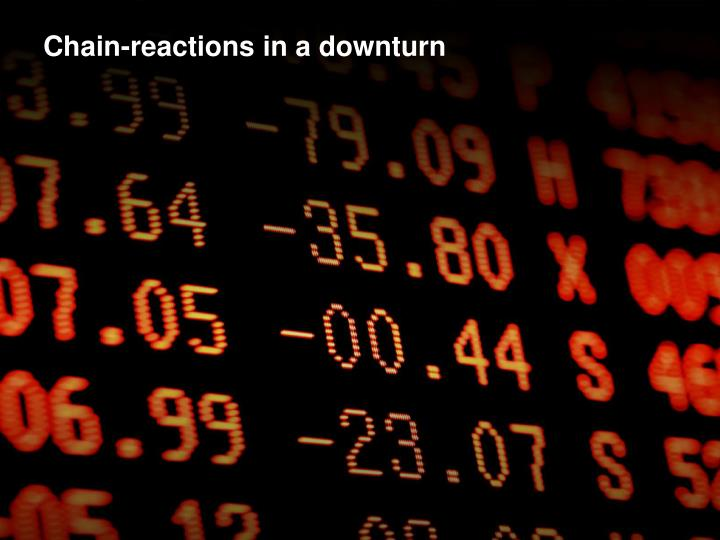 Chain-reactions in a downturn